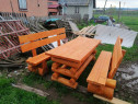 Realizez Masa si banci din lemn rotund
