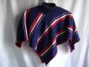 Poncho tricotat bleumarin