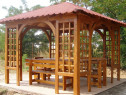 Foișor de grădină cu mobilier