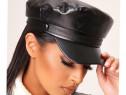 Șapcă Pălărie neagră piele