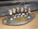 Set 6 pahare cu tava Argentor Werke Rust & Hetzel