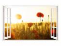 Sticker Decorativ, Fereastra 3D, Maci, 85 Cm, 302STK