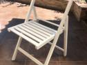Scaun pliant lemn fag - ALB / scaune albe