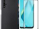Huawei Nova 5T - Husa Silicon Kevlar + Folie Sticla 11D