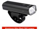 Lanterna far USB bicicleta trotineta minimalis aluminiu mtb