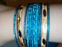 Brățări albastre metalice indiene