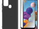 Husa Silicon si Folie Sticla11D Samsung A21S A51 A71