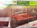 Măsuța balcon rabatabila din lemn - masa pliabila exterior
