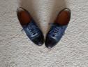 2 perechi pantofi Oxford, piele, marimea 35