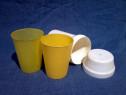 Set pahare de voiaj plastic perioada comunista de colectie