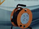 Tambur prelungitor cu cablu 25 m cu 4 prize nou