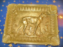 B912-Scrumiera veche Caine Ogar trabucuri-tigarete bronz mas