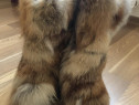 Cizme din blană de vulpe naturală (Diavolezza)