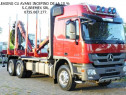 Camion forestier Mercedes6x4 arcuri fier macara Loglift 115