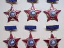 """6 insigne """"Fruntas in intrecerea socialista"""", ani diferiti"""