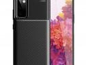 Husa Silicon Carbon Neagra - Samsung S20FE S10 Lite Note 10