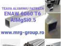 Teava aluminiu patrata 20x20x2 Teava rectangulara alama inox