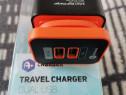 Încărcător fast charge 2 mufe usb plus cablu mini usb,