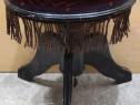 Taburet Vintage stil Retro; Scaunel Lemn Masiv tapitat
