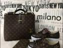 Set Louis Vuitton 3 articole (geanta +portofel+adidasi)