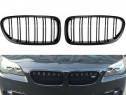 Grile nari duble BMW f10/f11/f18 2010-2016 negru lucios
