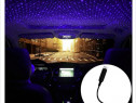 Proiector cu lumina laser ambientala cu stele pentru masinau