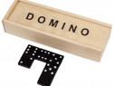 Joc de societate Domino cu 28 de piese si cutie din lemn