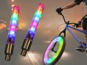 LED-uri multicolore montare la roata pe ventil bicicleta