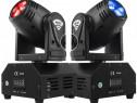 2 Mini LED 10W Moving Head DMX512 Lumini scena, acasa RGBW+S