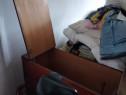 Donez lada pat lemn brun lucios, stare buna