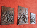 Placheta relief bronz masiv vintage,colectie,Germania-cadou