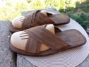 Slapi - sandale piele Farrutex, marime 43 (27.5 cm)