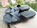 Slapi piele mar 44 (28 cm) made in Spain.
