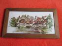 Tablou placa ceramica pictata, semnata,Germania anii60-cadou