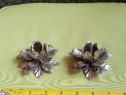 Set 2 suporturi de lumanari floare metal