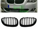 Set grile BMW seria 5 E60 E61 capota grila negru lucios