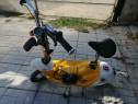 Scuter electric galben pentru copii
