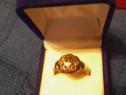 Inel de aur cu 9 diamante