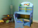 SEALC101 - Set masuta, birou, scaunel, - albastru, MDF masa
