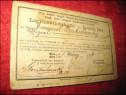 1362-Legitimatie veche Resita imp. austriac-Wien 1906. Legit