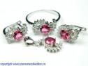 Set bijuterii argint rodiat Model ST332101