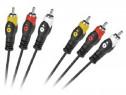 Cablu 3xRCA tata - 3xRCA tata, 5m - 401961