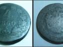 Moneda veche 4 Kreuczar Austria 1860, bronz, 2.8cm.