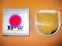 6673-Lentila mare B+W-602E 101 2X-Foto+TV-6.5cm. Germania.