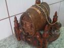 Recipinent decorativ  artizanal lemn masiv