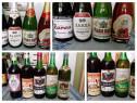 13 sticle Vin foarte vechi,anii 1950-1980+5 sticle sampanie!