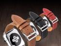 Curea moale piele vitel Qialino Apple Watch 1 2 Sport 38mm
