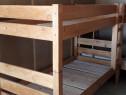 Pat de lemn supraetajat