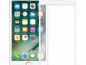 Folie Sticla iPhone 8 White Fullcover 4D Tempered Glass Ecra