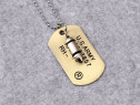 Lant Lantisor Lantisoare Medalion Dog Tag + Glont militar